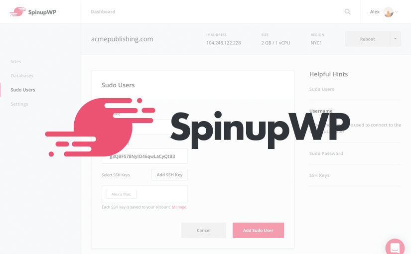Benefits of using SpinupWP for your next WordPress site